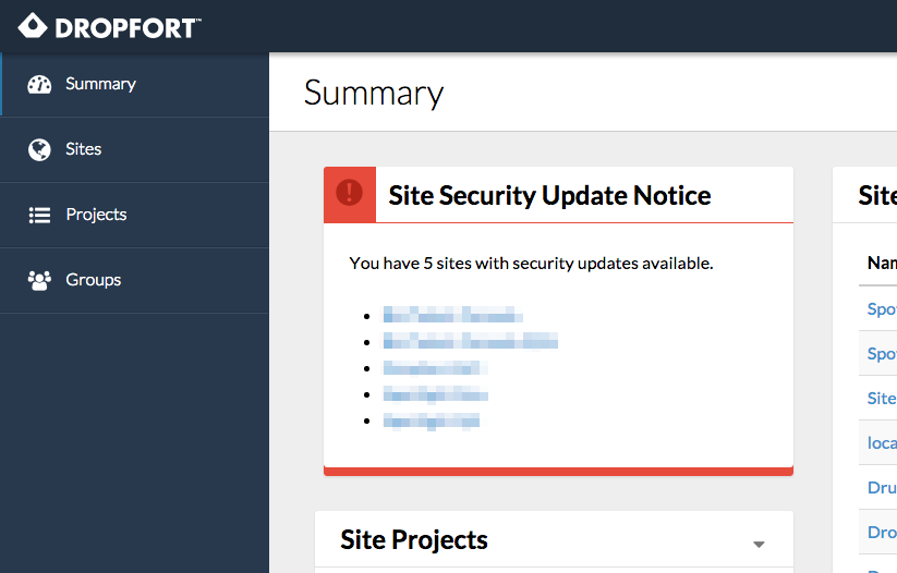 Site Security Report